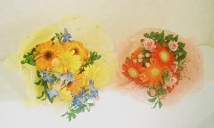 男の子と女の子のかわいい子供用花束