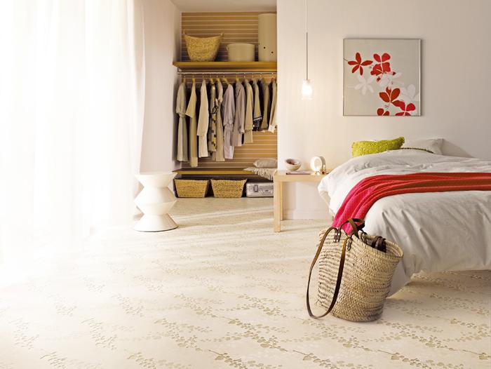 洗面所床張替え