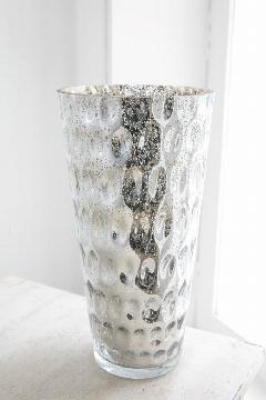 アンティーク調花瓶 シルバーディンプルベースLサイズ