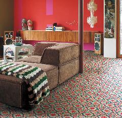 モロッコタイル調のクッションフロア シンコー