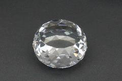 クリスタルペーパーウエイト ダイヤカット厚型