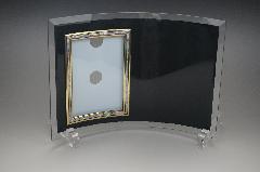 フォトフレーム クリアーブラックガラス 縦型