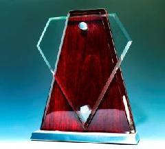 ピアノウッド盾 五角形型