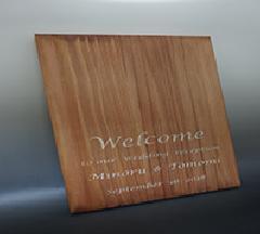 木製ウエルカムボード