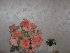 トイレの花柄壁紙 芦屋市リフォーム