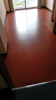 神戸 介護施設 壁紙クロス・カーペットからシート床工事