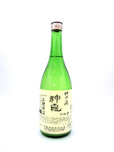 神亀 純米無濾過生原酒 上槽中汲 純米ファンド 720ml