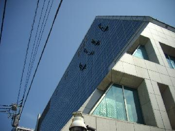 ビル 高所窓ガラス清掃