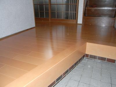 床のリフォーム施工後
