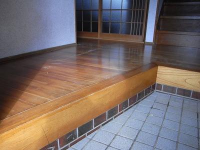 床のリフォーム施工前