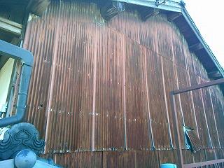 外部トタン張替え工事 施工前