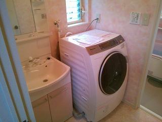 洗面脱衣室改装 施工後