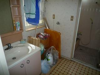 洗面脱衣室改装 施工前