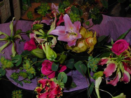 販売した花束(28)お見舞いの花束です。