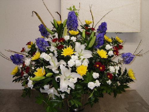 販売した葬式スタンド花
