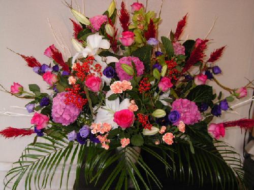販売した開店祝い花。