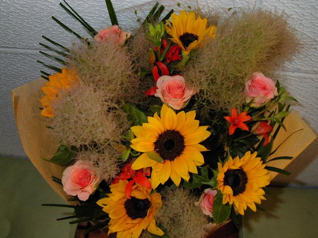 退職される女性への、贈る花束。