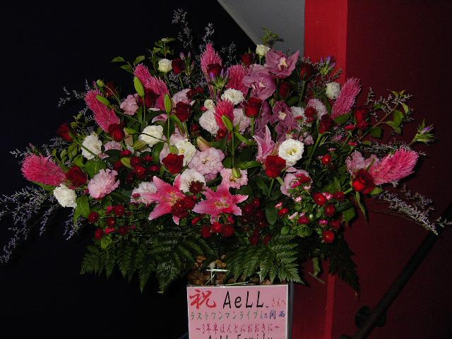 ライブのスタンド花。