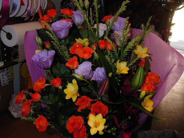 注文頂いた花束。