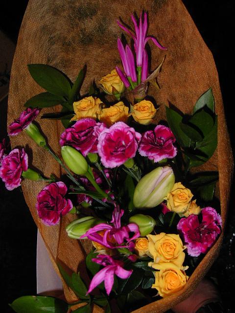 販売した花束。
