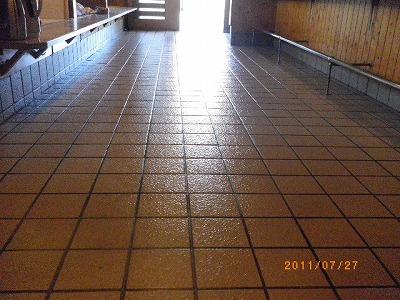 床面コーティング施工