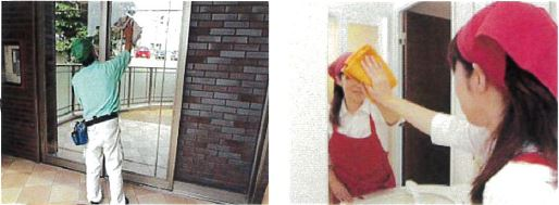 ガラスや鏡の拭き掃除