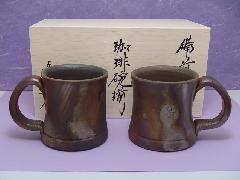 金彩へこみマグ ペア (木箱入り)
