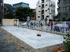 駐車場据付工事(東京都杉並区)