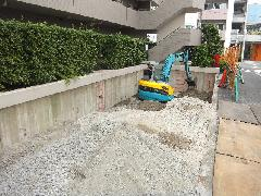 駐車場埋め戻し工事(東京都大田区)