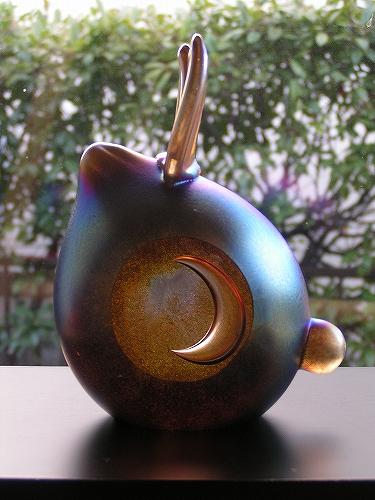 月のうさぎ(大)アンバー系