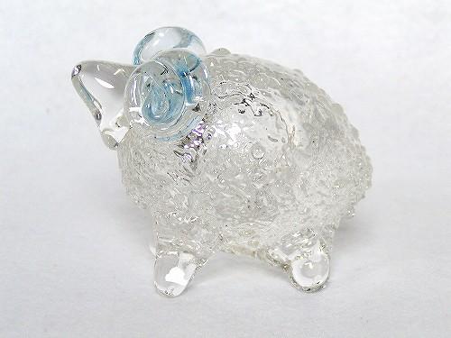 ガラス干支 『未』(ひつじ)青色