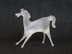 ガラス干支 立ち型 『午』 白馬