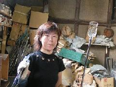 吹きガラス体験