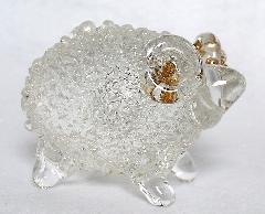ガラス干支 『未』(ひつじ) 茶系