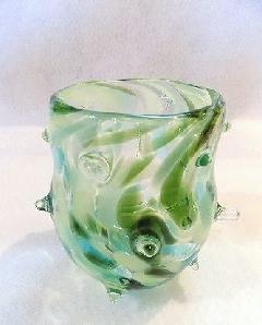 「ハリセンボン」 グラス(グリーン系)