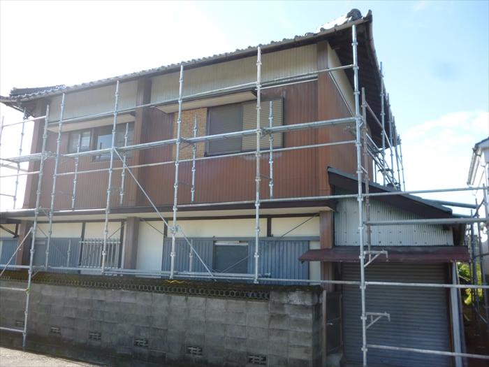 戸建住宅 外壁塗装(犬山市)足場組-現状