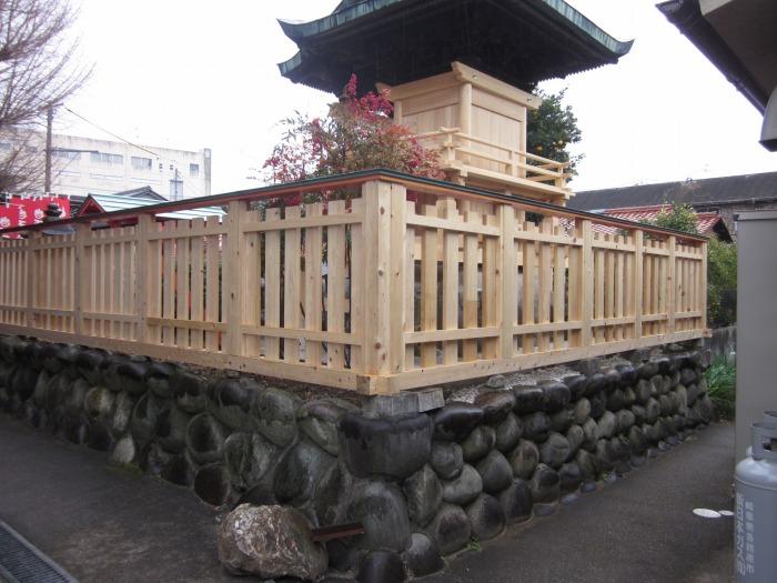神社の柵 塗装工事(犬山市)施工前