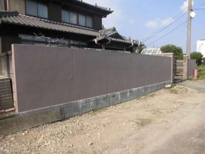 塀塗装(大口町)施工後