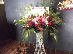 会場でスタンド花