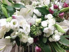 白のスタンド花