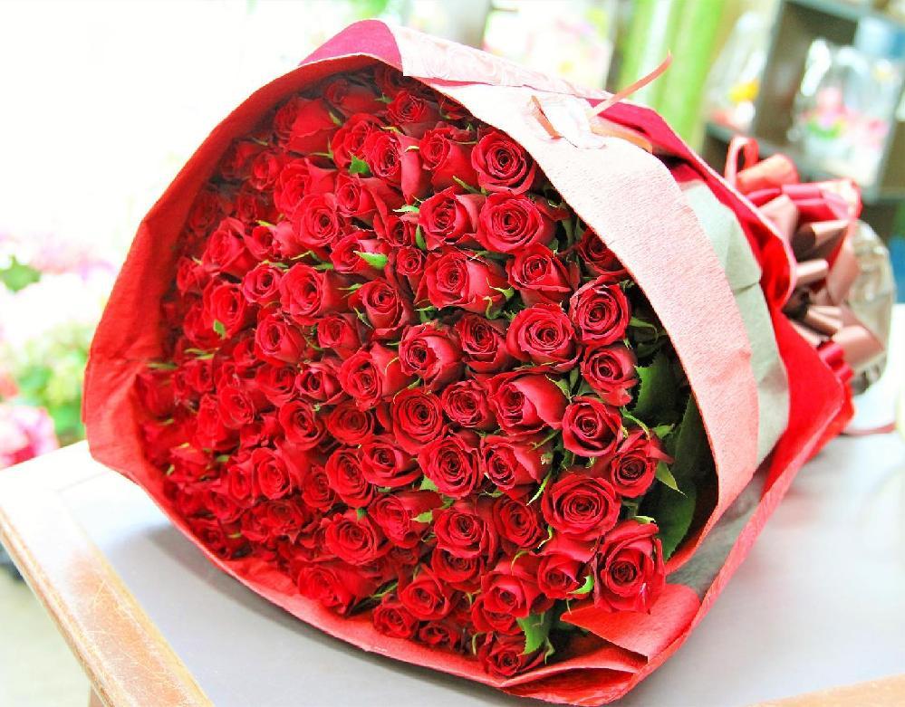 プロポーズ用 108本のバラの花束