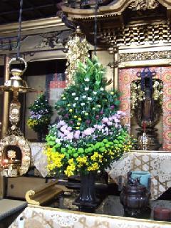 寺院、本堂用 生込花 N-012