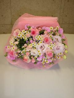 ピンク系花束 M-024