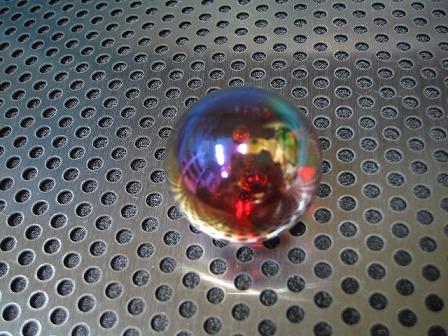 ビー玉・ガラス玉オーロラ(レッド)」25mm