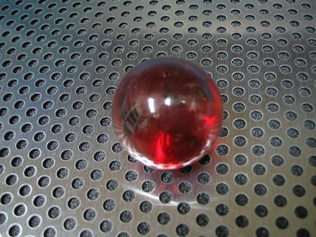 ビー玉・ガラス玉クリアカラー(レッド)」25mm