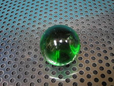 ビー玉・ガラス玉クリアカラー(グリーン)」25mm