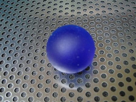 ビー玉・ガラス玉フロスト(コバルト)バラ25mm