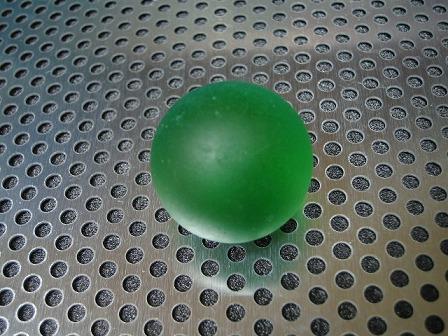 ビー玉・ガラス玉「フロスト(グリーン)」25mm