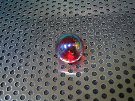ビー玉・ガラス玉「オーロラ(レッド)」17mm