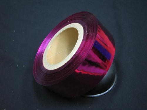 イベント用メッキテープ5cm幅200M巻き粘着なし(ピンク色)
